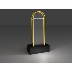 """Trophée """"Stèle"""" transparent..."""