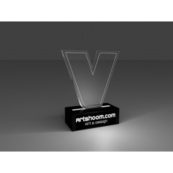 """Trophée """"Victoire"""" transparent"""